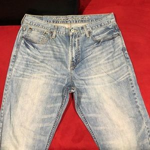 "Men American Eagle Stone Washed ""Bootcut"" Jeans"